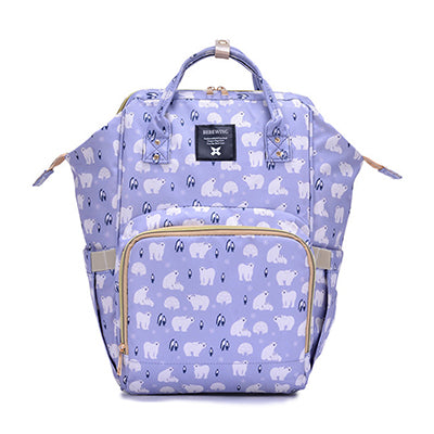 Versatile Diaper Bag Backpack with USB Connection Cute Stylish in a Variety of Colors