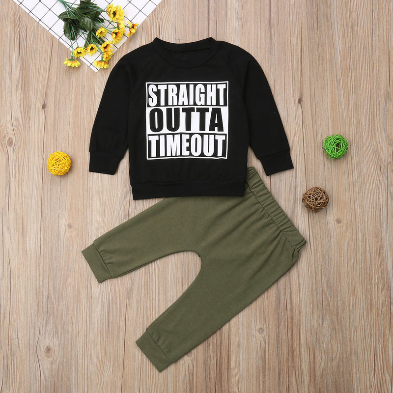 straight outta timeout shirt  straight outta timeout long sleeve shirts  straight outta timeout baby boys outfit set  boys shirts with funny sayings