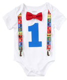 sesame street first birthday outfit boy - baby boy elmo party - sesame street birthday outfit - boys first birthday outfit - 1st birthday