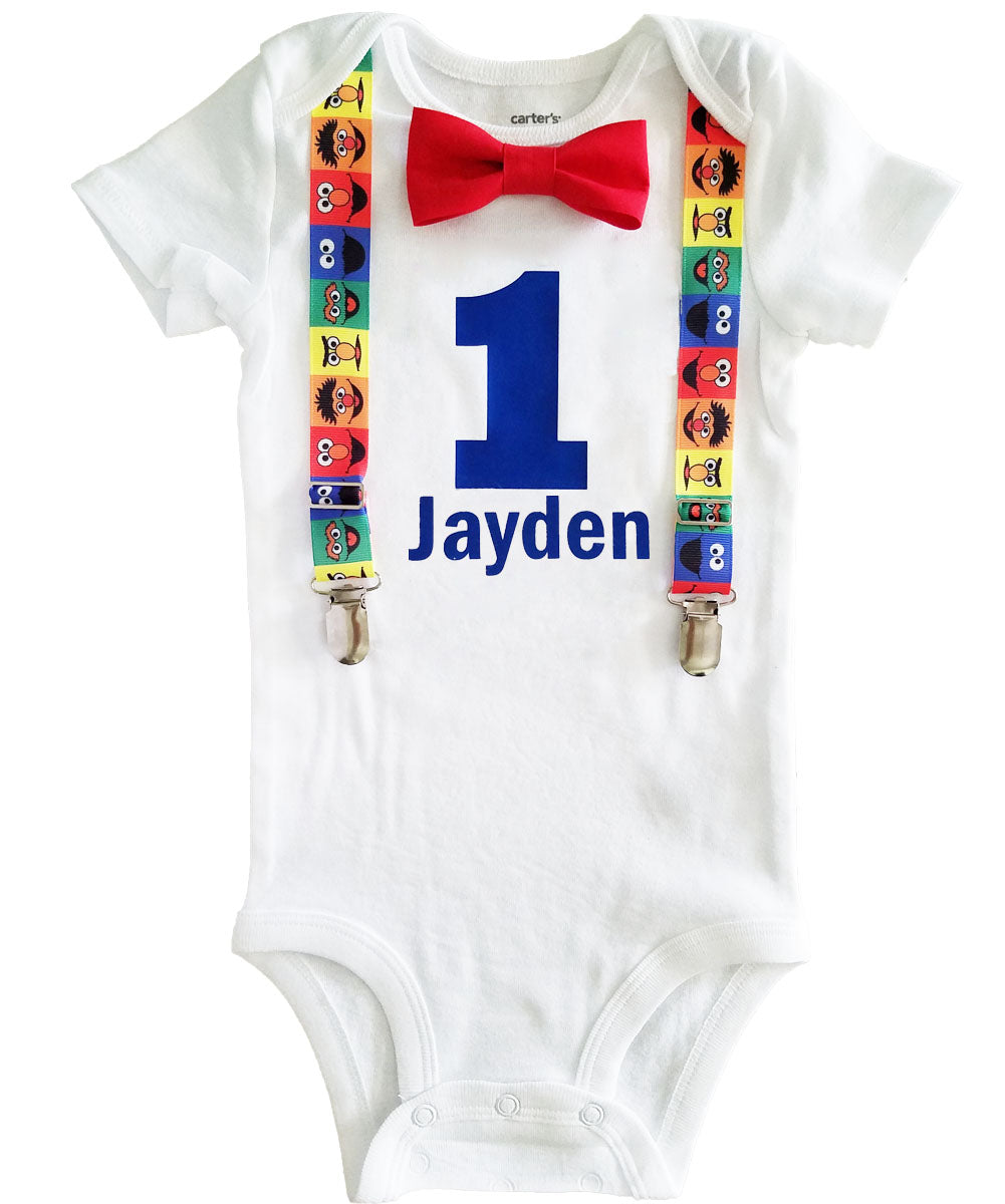 Amazon Com First Birthday Outfit Boy First Birthday Outfit Handmade