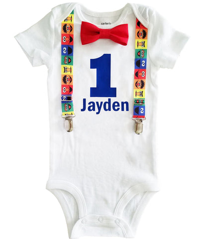 Noahs Boytique Sesame Street First Birthday Outfit Baby Boy