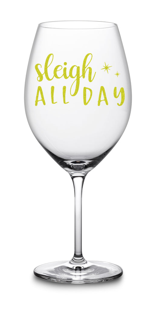Christmas Wine glass sleigh all day funny gifts for her women moms christmas gifts wine basket