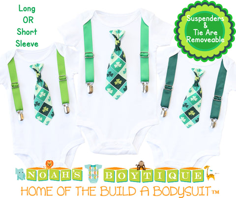 Easter Outfit Baby Boy with Tan Suspenders and Argyle Bow Tie