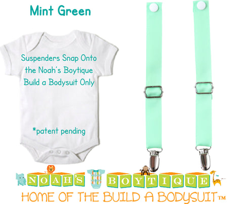 Black and White Check Noah's Boytique Bodysuit Suspenders - Snap On - Suspender Outfit - Baby - Newborn - Interchangeable - Racecar