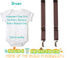 Brown Noah's Boytique Bodysuit Suspenders - Snap On - Suspender Outfit - Baby Suspenders - Newborn Suspenders - Interchangeable