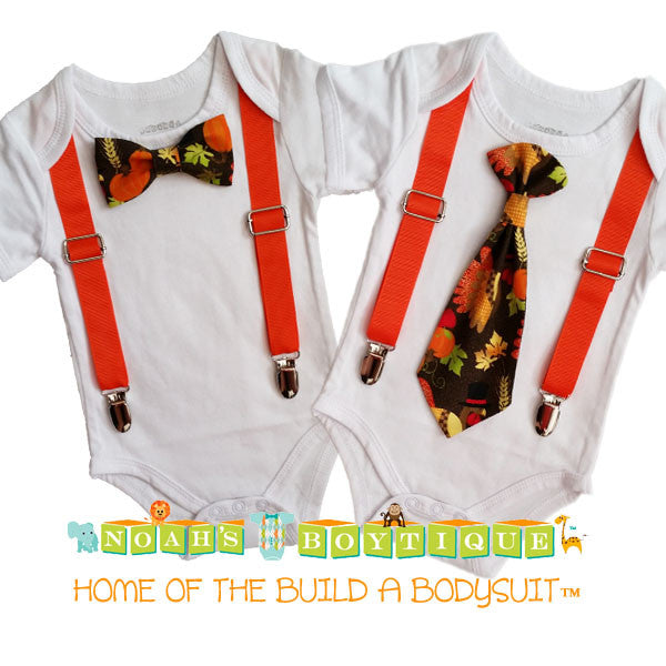 Baby Bow Ties for Noah's Boytique Build a Bodysuit - Snap On Bow Ties - Bow Ties for Babies - Bow Tie Outfit - Bowtie - Thanksgiving - Fall