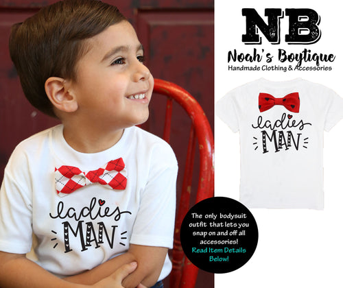 valentines day outfit toddler bow tie shirt ladies man funny heartbreaker argyle hearts