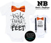 Baby Boy Halloween Outfit - Newborn Halloween Costume - Smell My Feet Pumpkin Bow Tie Orange and Black - First Halloween Custom Shirt Onesie Funny Toddler Shirts