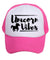 baby toddler kids trucker hat mesh unicorn vibes pink