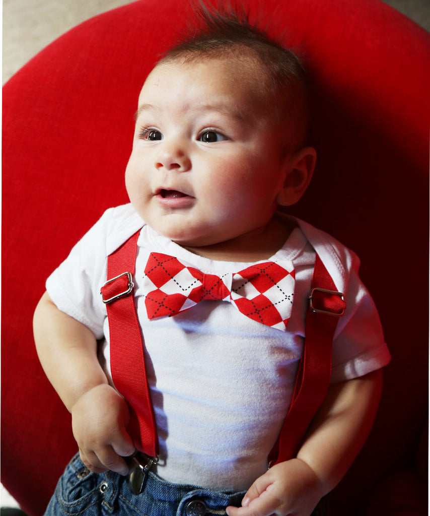 Baby Boy Valentines Outfit - Valentines Day Outfit - Heartbreaker Tie - Heart Tie and Ssupenders - First Valentines - Newborn Valentines - noahs boytique - cupcakemag