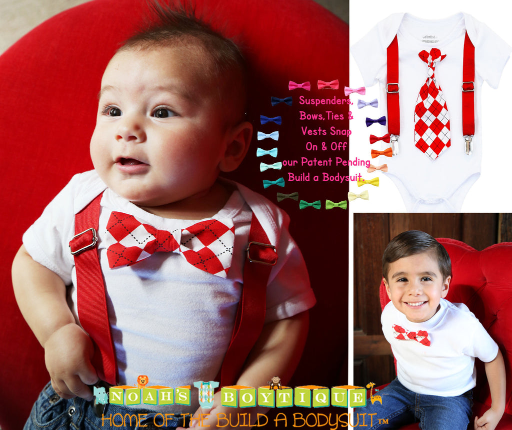 a687438bc ... Newborn First Valentines Outfit - Valentines Day Shirt - Suspenders Tie  - Kissing Booth - Baby ...