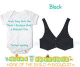 Black Baby Vest - Baby Tuxedo Vest - Baby Boy Wedding Vest - Baby Boy Birthday Vest - Baby Vest Bodysuit - Noah's Boytique  - Baby Boy First Birthday Outfit
