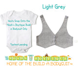 Grey Gray Suit Baby Vest - Baby Tuxedo Vest - Baby Boy Wedding Vest - Baby Boy Birthday Vest - Baby Vest Bodysuit