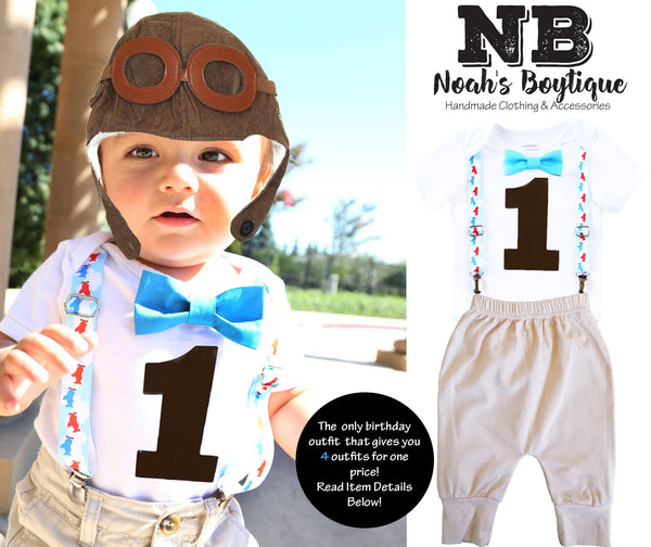 Vintage Airplane Theme First Birthday Outfit Boy Plane Party first birthday onesie baby boy airplanes aviator hat