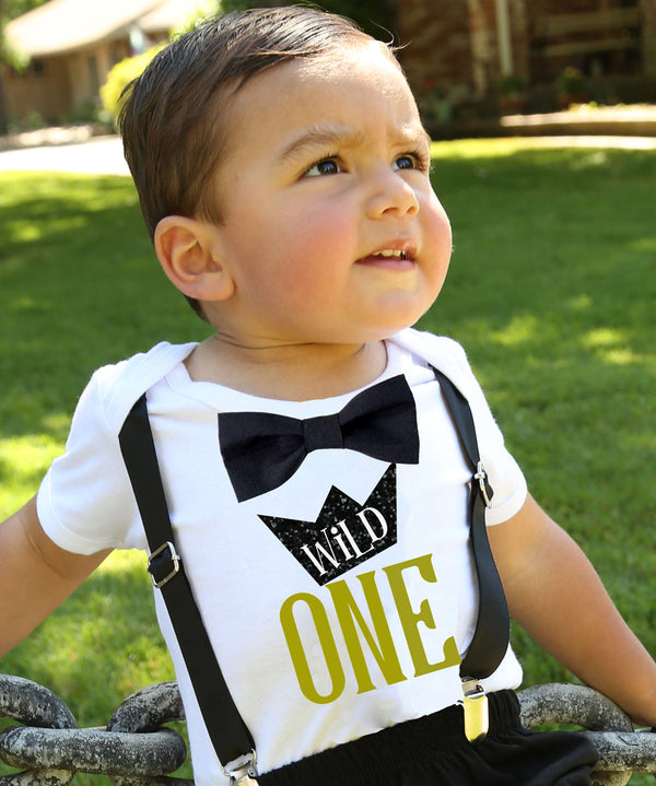 where the wild things are first birthday outfit party wild one first birthday shirt outfit onesie boy black and gold cake smash wild things ideas crown