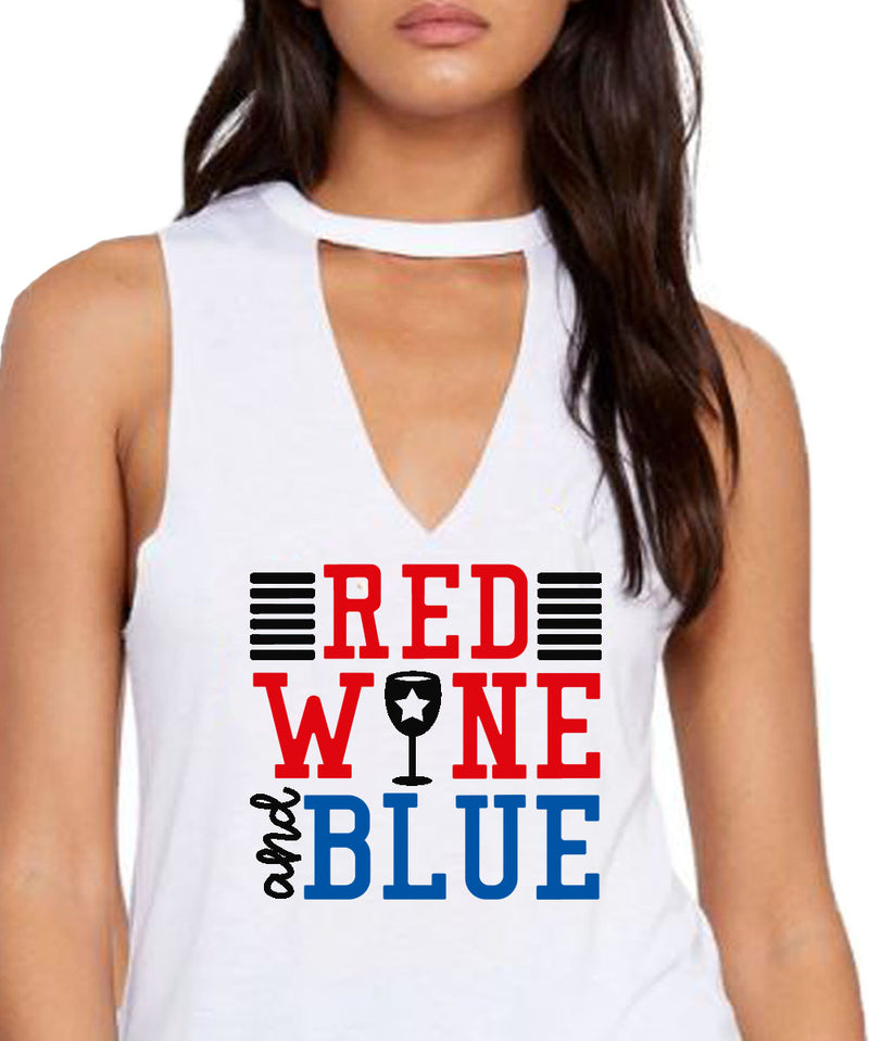 womens fourth of july tank cut out v neck 4th born free but now i'm expensive cute patriotic country stagecoach coachella red wine and blue