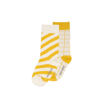 STRIPE SOCKS MUSTARD TWO PACK