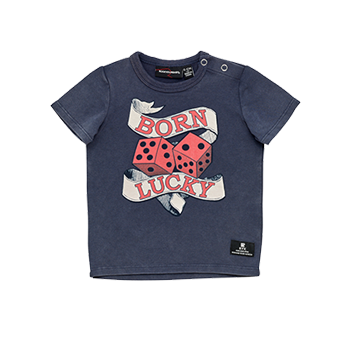 BORN LUCKY BABY T-SHIRT