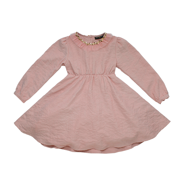 PINK BUTTERFLY WING - LS DRESS