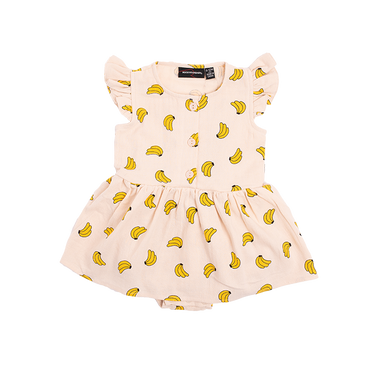 BANANAS BABY FLUTTER SLEEVE DRESS