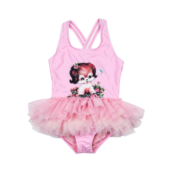 PUPPY LOVE BABY TULLE ONE PIECE