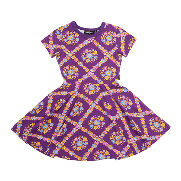 PURPLE HAZE WAISTED DRESS