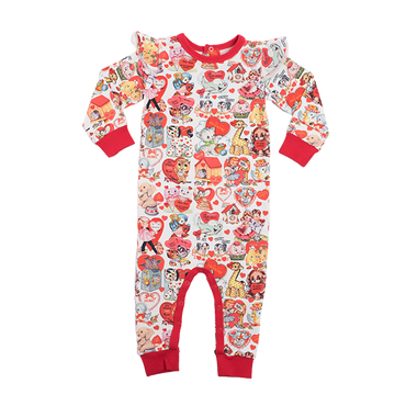 MY FUNNY VALENTINE BABY PLAYSUIT