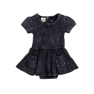 SIOUXSIE BLACK WASH BABY WAISTED DRESS