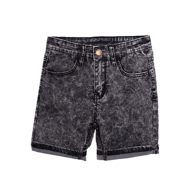 BLACK WASH LOYALTY DENIM SHORTS