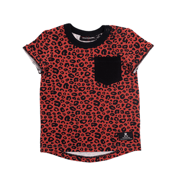 RED LEOPARD BABY T-SHIRT