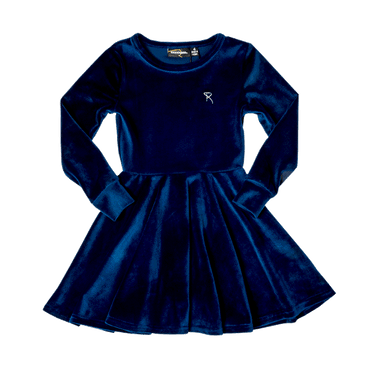 VELVET UNDERGROUND WAISTED DRESS NAVY
