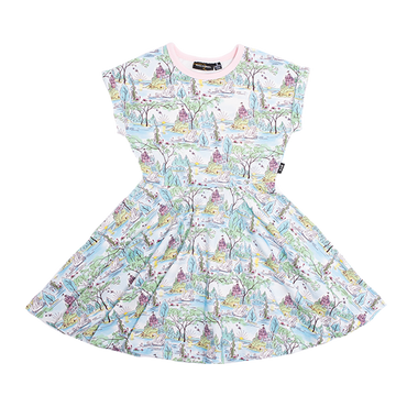 SWAN CASTLE WAISTED DRESS