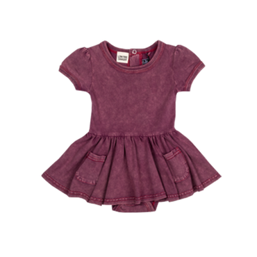 SIOUXSIE PLUM WASH BABY WAISTED DRESS