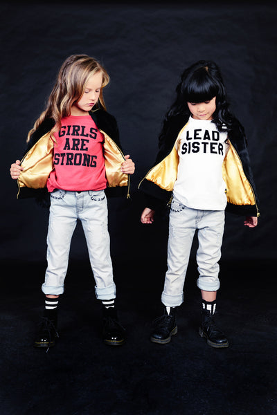 GIRLS ARE STRONG LS T-SHIRT