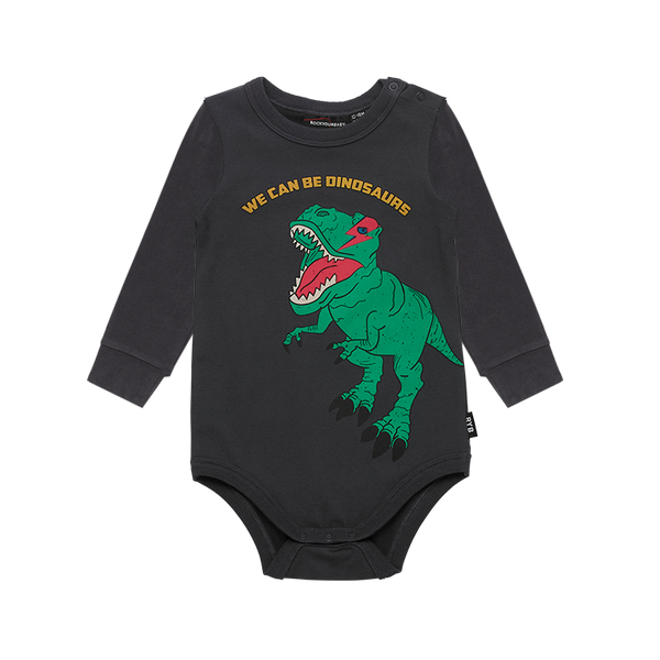 WE CAN BE DINOSAURS BABY BODYSUIT