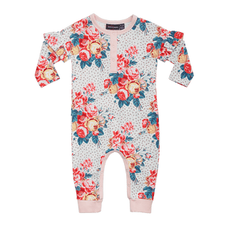 ANTIQUE CHINTZ BABY PLAYSUIT