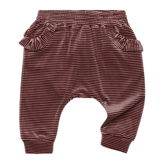 VELVET STRIPE BABY TRACKPANTS