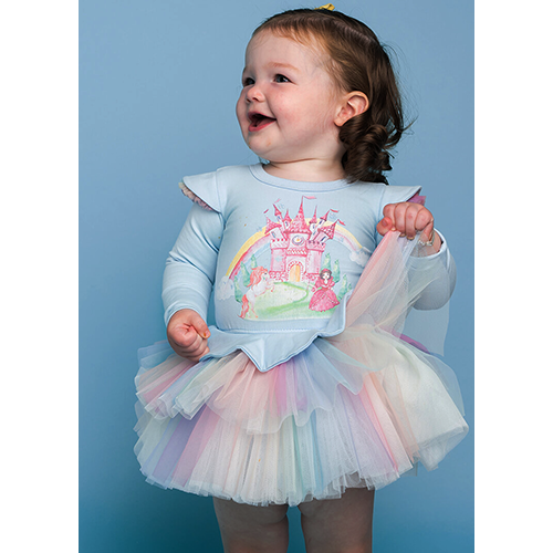 OVER THE RAINBOW BABY FLOUNCE DRESS
