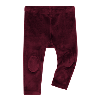 PLUM VELVET BABY KNEE PATCH TIGHTS