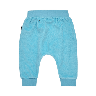 BLUE TERRY TOWELLING BABY TRACKPANTS