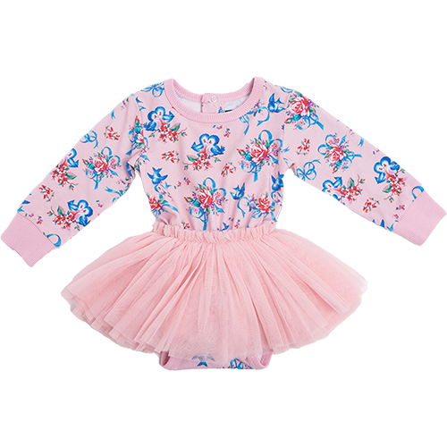 BLUE BIRD BABY CIRCUS DRESS