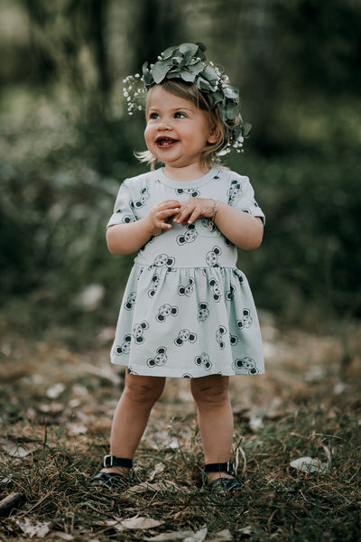 MOUSE BABY WAISTED DRESS (ORGANIC)