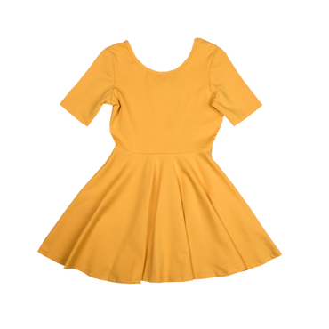 Mustard Mabel Leotard Dress