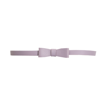 LIGHT MAUVE BOW BELT