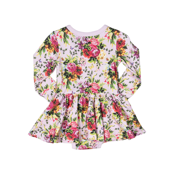BOUQUETS BABY WAISTED DRESS