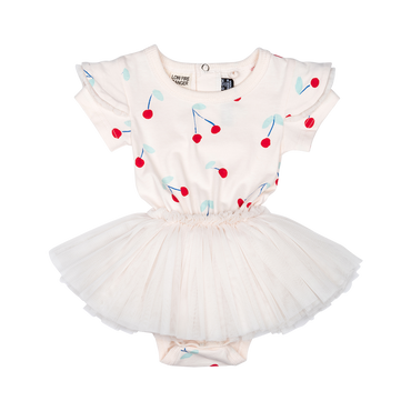 Cherry Bomb Short Sleeve Baby Circus Dress