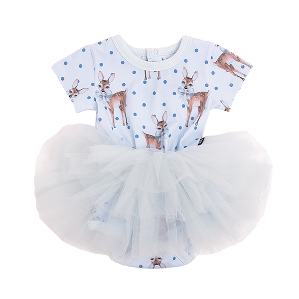 DEER HEART BABY FLOUNCE DRESS