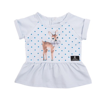 DEER HEART SS BABY T-SHIRT