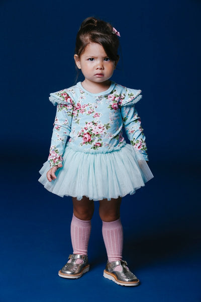 Blue Maeve Long Sleeve Baby Circus Dress