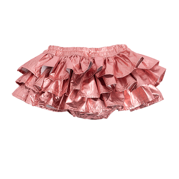 METALLIC PINK BABY BLOOMERS